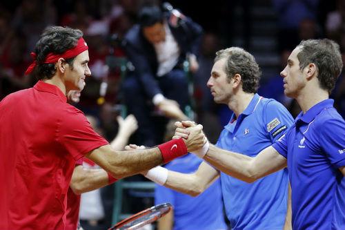 Federer tỏa sáng, Thụy Sĩ thắng trận đôi trước chủ nhà Pháp - 3