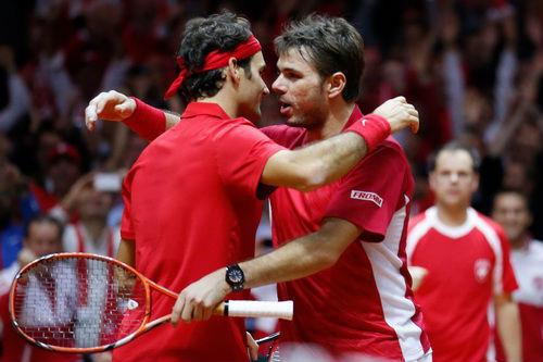 Federer tỏa sáng, Thụy Sĩ thắng trận đôi trước chủ nhà Pháp - 4