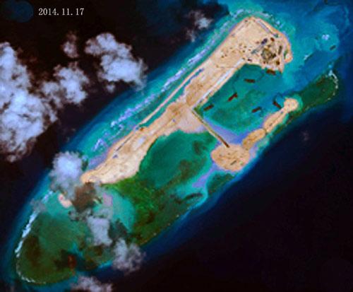 Đại tá TQ lý giải việc xây đảo phi pháp ở Trường Sa - 1