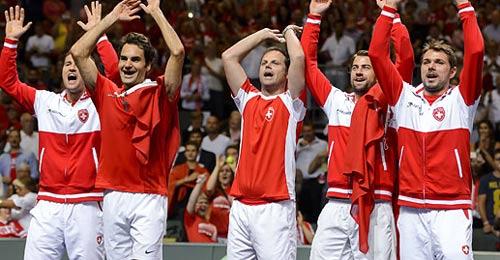 """Federer """"lên đồng"""", Thụy Sỹ vô địch Davis Cup - 1"""
