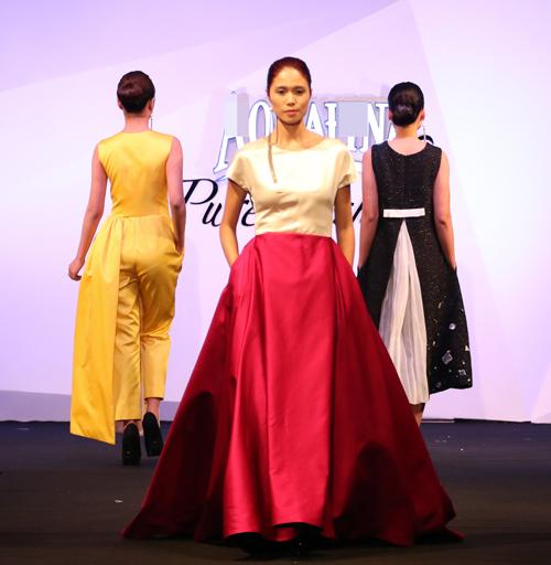 Minh Triệu, Hoàng Thùy đọ bước trên sàn catwalk - 8