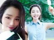 """Vẻ đẹp thiên thần của """"hoa khôi ăn kem"""" Hàn Quốc"""