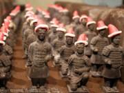 Đội quân đất nung socola mừng Giáng sinh