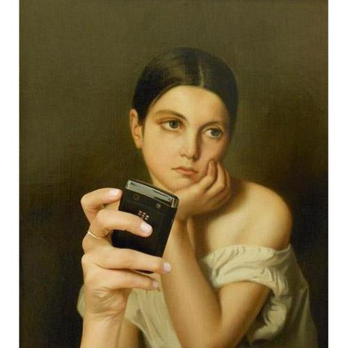 """Khi người xưa """"tự sướng"""" với điện thoại thời nay - 2"""