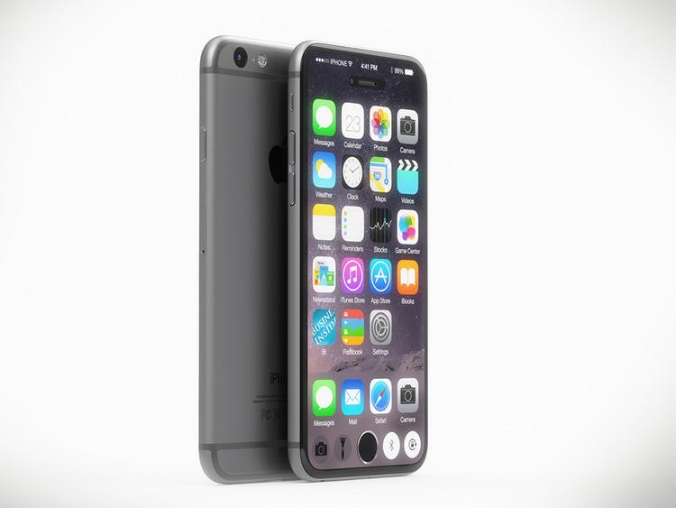 iPhone 7 concept với nút Home nằm trên màn hình cảm ứng - 1