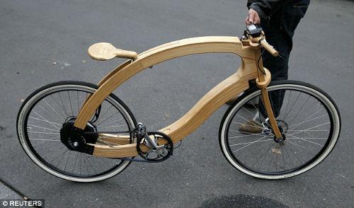 """""""Chơi trội"""" với chiếc xe đạp điện bằng gỗ - 5"""