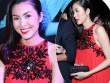 Tăng Thanh Hà mặc váy rộng đi xem thời trang