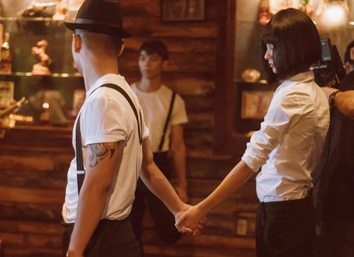 Cường Seven diễn cảnh hôn với bạn gái tin đồn - 4