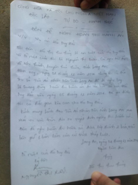 Hoãn thi hành án tử hình đối với tử tù Hồ Duy Hải - 3