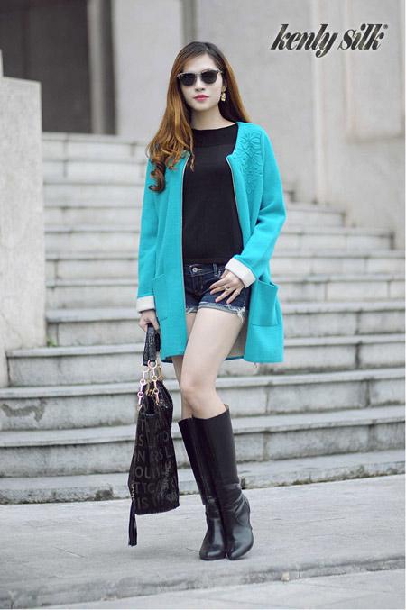 Những mẫu áo choàng tươi trẻ mùa thu đông 2014-2015 - 4