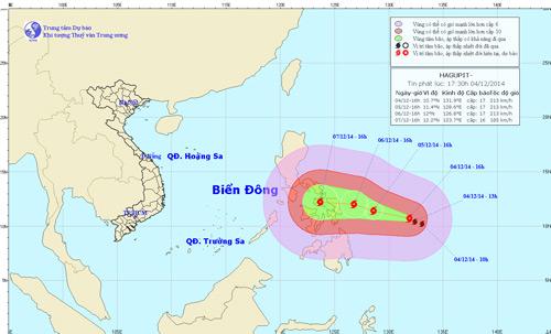Siêu bão Hagupit giật cấp 17 có khả năng vào Biển Đông - 1
