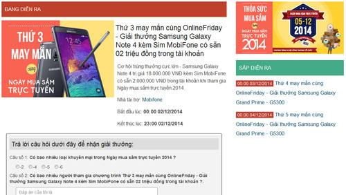 Cơ hội sở hữu điện thoại Samsung giá rẻ trong ngày OnlineFriday - 1
