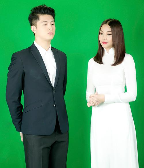 Thanh Hằng mặc áo dài trắng tinh khôi bên Harry Lu - 3