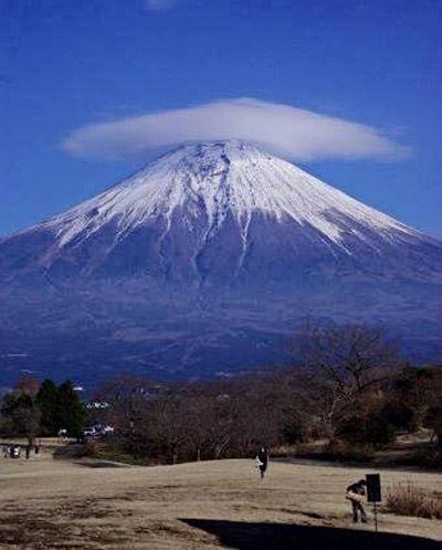 """Thú vị hình ảnh núi Phú Sĩ """"đội nón"""" - 5"""