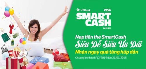 Nạp tiền thẻ VPBank Smartcash – nhận ngay quà tặng - 1