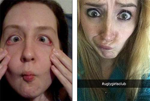 Những cô gái tự tin với gương mặt xấu