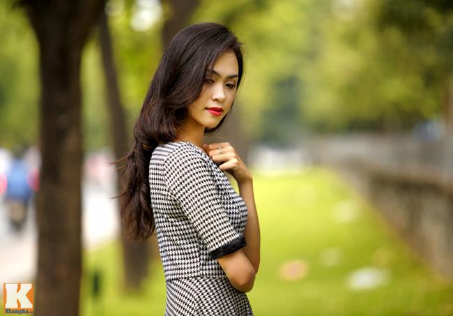 Người đẹp Kinh Bắc khoe sắc trên con đường & nbsp;Kim Mã (Hà Nội)