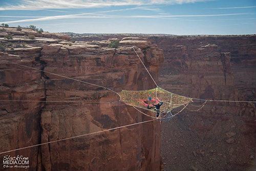 """Rùng mình với """"mạng nhện"""" ở độ cao 120m - 3"""