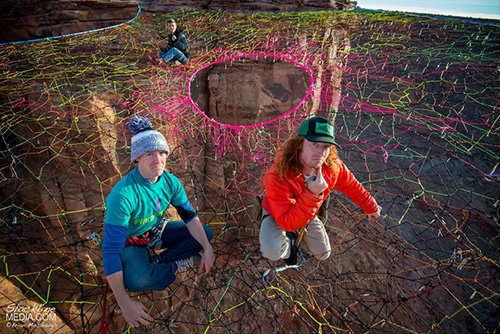 """Rùng mình với """"mạng nhện"""" ở độ cao 120m - 4"""