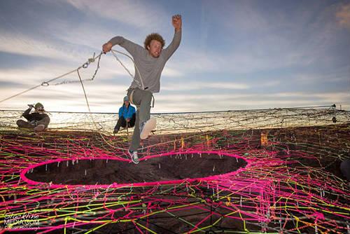 """Rùng mình với """"mạng nhện"""" ở độ cao 120m - 7"""