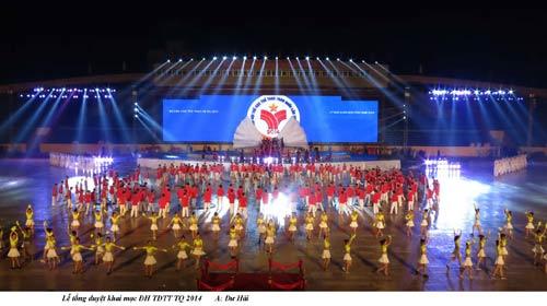 Tối nay khai mạc Đại hội TDTT toàn quốc lần VII-2014 - 2