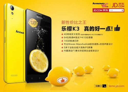 Lenovo K3: Smartphone giá rẻ, cấu hình tốt - 1