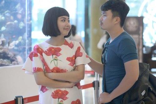 Chồng sắp cưới đến phim trường thăm Lê Khánh - 2