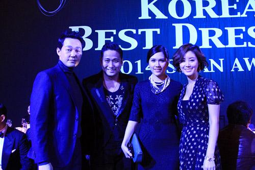 Vợ chồng Minh Tiệp làm khách VIP trên thảm đỏ Hàn Quốc - 5