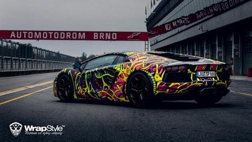 Lamborghini Aventador phủ màu độc, gây ảo giác - 8