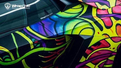Lamborghini Aventador phủ màu độc, gây ảo giác - 9