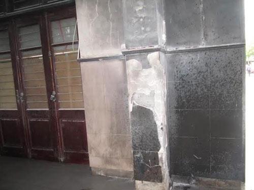"""Hiện trường vụ ném """"bom xăng"""" kinh hoàng tại ga Vinh - 3"""