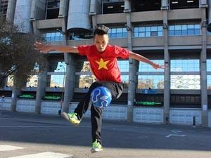 Chàng trai Việt vinh dự giao lưu với đội bóng Real Madrid