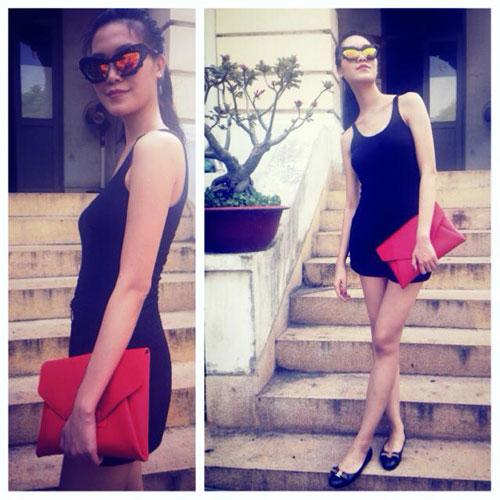 Hoa hậu Thùy Dung cá tính dạo bước trên phố Hà Nội - 9