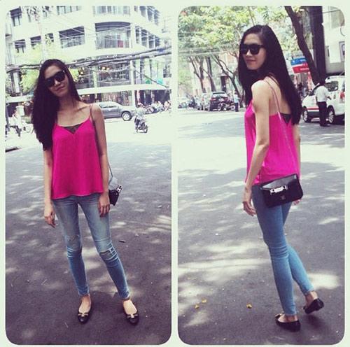 Hoa hậu Thùy Dung cá tính dạo bước trên phố Hà Nội - 10