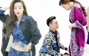NTK Lý Quí Khánh quỳ gối sửa váy cho Hồ Ngọc Hà