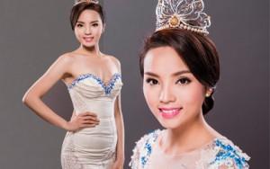 Hoa hậu Kỳ Duyên e ấp khoe nét thanh xuân