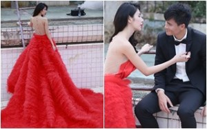 Thủy Tiên diện váy nửa tỷ chụp ảnh cưới