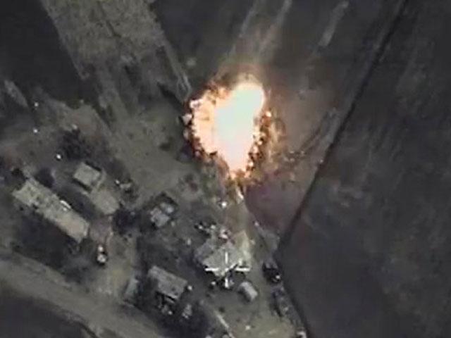Nga công bố video không kích IS ở Syria - 1