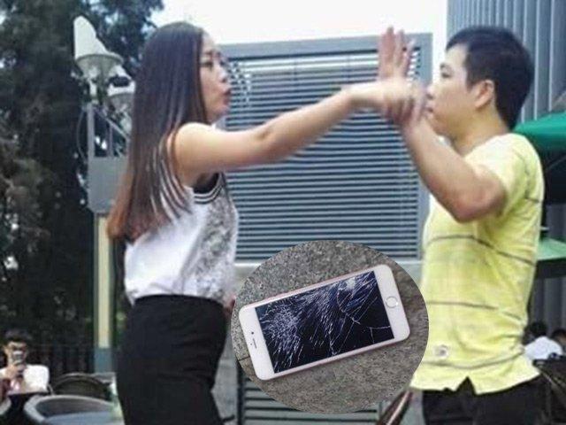 Cô gái đập nát iPhone 6S chỉ vì giận bạn trai