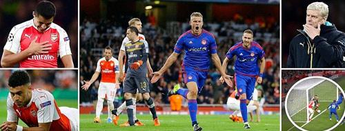 Tiêu điểm lượt 2 Cúp C1: Arsenal sớm khốn đốn - 1