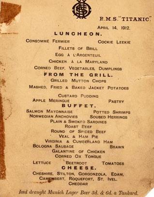 Bí ẩn đằng sau thực đơn cuối cùng trên tàu Titanic giá 2 tỷ - 2