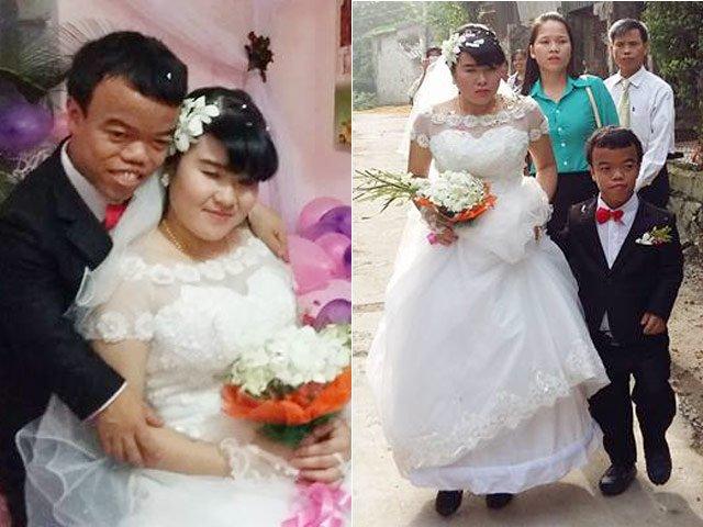 """Đám cưới cổ tích của """"chàng lùn"""" và cô gái mù"""