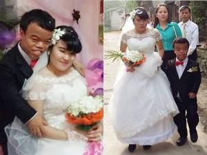 """Bạn trẻ - Cuộc sống - Đám cưới cổ tích của """"chàng lùn"""" và cô gái mù"""
