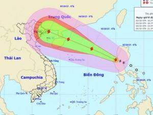 Bão Mujigae vào biển Đông