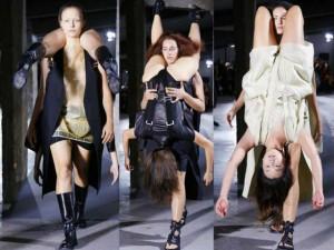 """Sốc với show người mẫu """"vác"""" người mẫu tại Paris"""