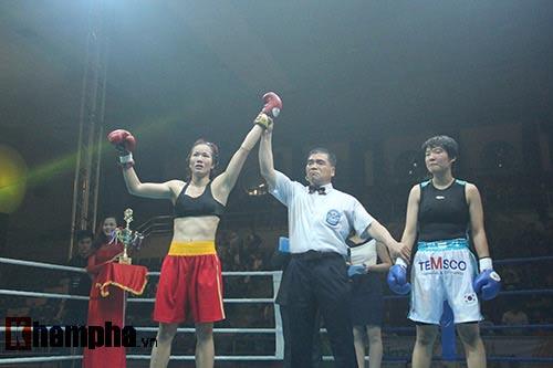 Boxing: Lừu Thị Duyên tung seri đòn hạ võ sĩ Hàn Quốc - 6