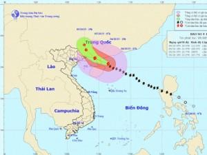 Bão số 4 áp sát đảo Hải Nam, Trung Quốc