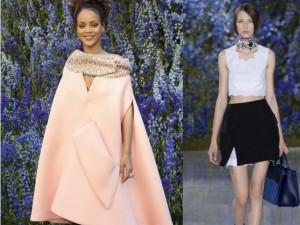 Rihanna xuất hiện rạng rỡ tại show Dior Paris FW