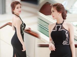 Á hậu Diễm Trang khoe lưng ong nõn nà với váy ôm