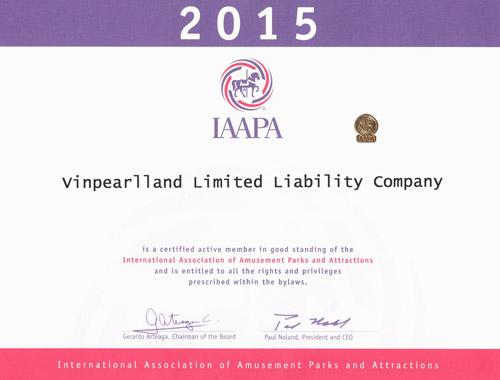 Vinpearlland đạt chứng nhận khu vui chơi đẳng cấp quốc tế IAAPA - 1